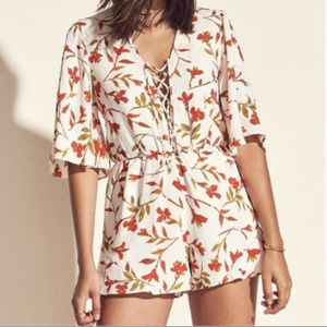 Lovers & Friends Epiphany Floral Romper  Size XS